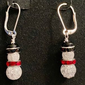 Snowman Earrings for the holidays